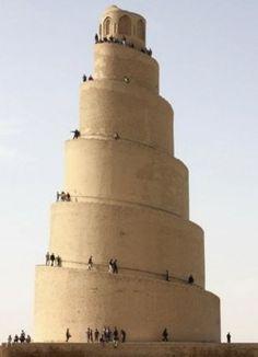 Samarra Iraq. Spiral Minaret. Great Mosque.