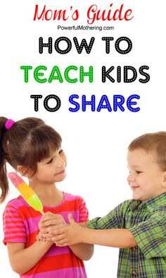 Moms Guide to teaching kids to share #preschool