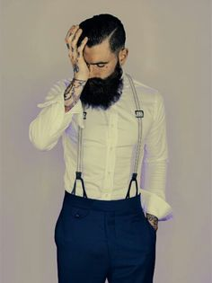 I do not think that there has ever been a better combination of beard and tattoos than Ricki Hall. Hipsters, Bart Tattoo, Sexy Bart, Undercut With Beard, Old School Style, Beautiful Men, Beautiful People, Beautiful Pictures, Ricki Hall