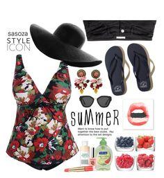 """Summer vibes by Sasoza"" by sasooza ❤ liked on Polyvore featuring LSA International, Hollister Co., Softsoap, Mario Badescu Skin Care, Estée Lauder, Prada and Dolce&Gabbana"