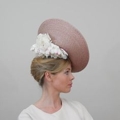 Pink Straw Aimée Fascinator | Anne-Sophie Coulot