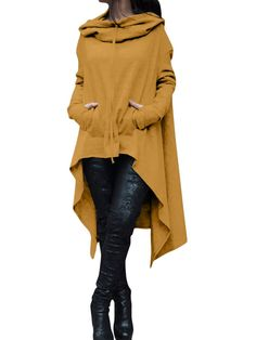 b674bbb0f141 Solid Cotton Casual Long Sleeve Plus Size Hoody - JustFashionNow.com