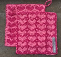 Fair Isle Knitting Patterns, Knitting Charts, Knit Dishcloth, Afghan Blanket, Potholders, Drops Design, Hobby, Double Knitting, Knitting Projects