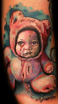 Tattoo Artist - Mario Hartmann | www.worldtattoogallery.com/cartoon_tattoo