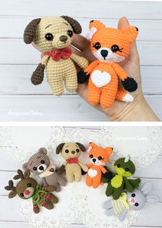 Fox crochet pattern You never know when you will need a little friend so it is best to keep this amigurumi puppy nearby at all times! With the small stature of this amigurumi Crochet Animal Amigurumi, Crochet Amigurumi Free Patterns, Crochet Animal Patterns, Crochet Dolls, Crochet Animals, Crochet Fox Pattern Free, Crochet Simple, Cute Crochet, Dog Crochet
