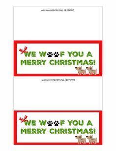 Dog Treat Christmas Gifts For Dogs ~ Free Printable inside Dog Treat Label Template - Best Business Templates Christmas Craft Fair, Dog Christmas Gifts, Christmas Treats, Christmas Tag Templates, Free Christmas Printables, Diy Dog Treats, Homemade Dog Treats, Dog Treat Bag, Dog Crafts
