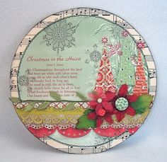 uses for old CD's....great Christmas card idea