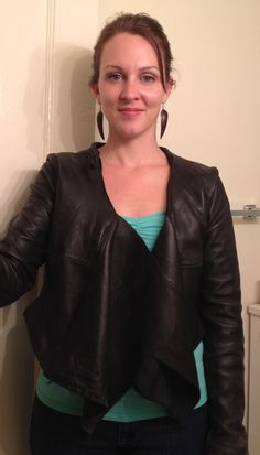 Refashioned yard sale leather jacket... Dang!This re-pin doesn't go anywhere. Great inspirational idea though.