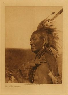 Arapaho man of importance.  He looks wise .