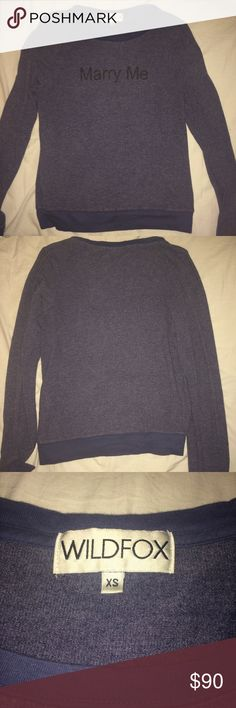 Wildfox Marry Me Baggy Beach Jumper Very gently worn, in excellent condition. No flaws. Size XS but wildfox runs oversized. Also, material looks worn in but that's just wildfox fabric. Wildfox Sweaters Crew & Scoop Necks