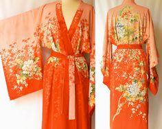 Vintage 1940s Silk Kimono / Japanese Robe / by ModLoungeVintage, $129.00