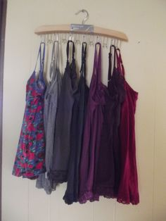 The belt hanger... works perfect to hang all of those cami's that take up space in your dresser or closet! Only $11!