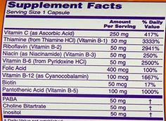 Vitamin B50 Complex with 250 mg Vitamin C 100 Capsules *** You can find more details by visiting the affiliate link Amazon.com.