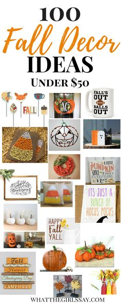 Fall Decor Ideas - Ready to decorate your home for Fall? Here are 100 of our Favorite Fall Decoration Ideas for the Home! Budget Fall Decor Ideas- From Pumpkin decorations to beautiful Fall Signs, these Autumn Decorations are sure to be a huge hit!  Decorating for Fall on a Budget? Here are some Fall Decor Ideas Budget Friendly