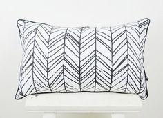 Black  & White Rectangular 30*50 cm Pillow Case