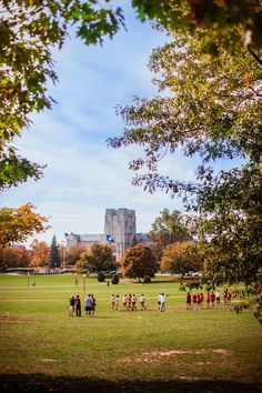 Virginia Tech Campus. Burrus Hall. Drill Field. Fall Folliage. Students. Virginia.