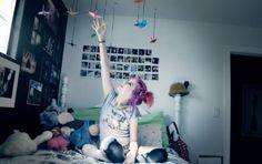 Room decor, Alternative room decor, punk rock scene epic rooms decor teen teenager female girl pink hair