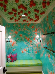 Loves these colors & the idea of the oranges! So creative. Perfect for a kids room! Dressing Room Closet, Dressing Rooms, Kids Boutique, Boutique Design, Lilly Pulitzer Prints, Store Layout, So Creative, Ideal Home, Grand Opening
