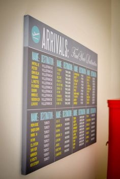 Travel themed seating plan by www.secretdiary.co.za #seatingplan #weddingstationery