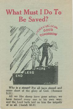 What Must I Do To Be Saved?  (Pilgrim Tract Society)