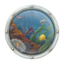 Porthole Number 2 Accent Mural Wall Decal