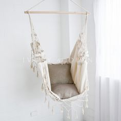 create a relaxing space with our deluxe cream french provincial style hanging hammock chair  fast shipping worldwide and exceptional customer service  deluxe hanging hammock chair relax in luxury and  fort shabby      rh   pinterest