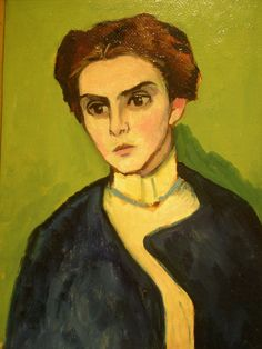 Gabriele Münter 'Portrait of a Young Woman', 1909