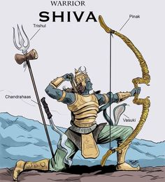 Lord shiva the Worrior concept by Mrinal Mahakal Shiva, Shiva Art, Hindu Art, Lord Shiva Hd Wallpaper, Lord Vishnu Wallpapers, Shri Hanuman, Durga, Lord Murugan, Lord Shiva Painting