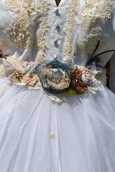 Bridal Sash Belt Lace Shabby Chic BoHo by BornAgainBobbles on Etsy, $44.00