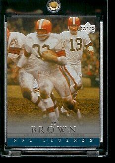 2000 Upper Deck Legends Jim Brown Cleveland Browns #11 Football Card - Mint Condition - In Protective Display Case by Upper Deck. $2.88. 2000 Upper Deck Legends Jim Brown Cleveland Browns #11Football Card - Mint Condition - In Protective Display Case