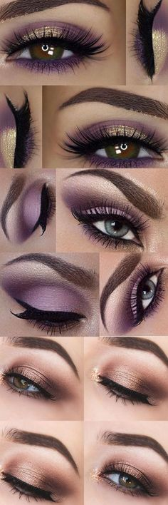 Eye Makeup - Pretty Purples - Ten (10) Different Ways of Eye Makeup