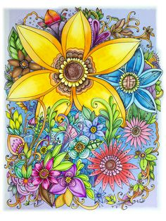 100 Coloring Flowers Ideas Coloring Books Basford Coloring Johanna Basford Coloring