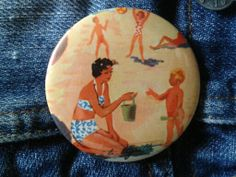 Badge, 5 cm . La Tigrette .