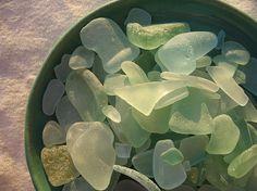 beach glass.