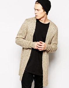 ASOS Longline Textured Cardigan