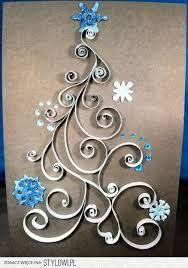 Znalezione obrazy dla zapytania quilling kartki bożonarodzeniowe