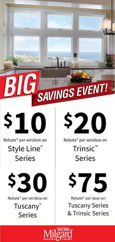 Don't miss out on our vinyl windows and patio doors savings event. Whether you are looking for window replacements or starting a new project, enjoy our best offer of the season. Now through February 28, 2019. #windows #patiodoors #milgard