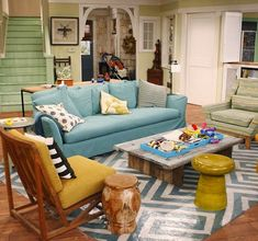 Good Luck Charlie House Tour. Love the homely feeling if it. Also all the bright colors.