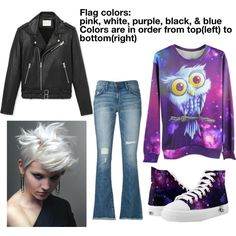 Genderfluid as a person by ravenclawcrown on Polyvore featuring IRO, Current/Elliott and CO