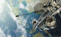 Uzay Asansörünün Proje Halindeki Görüntüsü