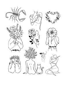 Julia Mo on Instagra Flash Art Tattoos, Line Art Tattoos, Cute Tattoos, Small Tattoos, Arabic Tattoos, Art Drawings Sketches, Tattoo Sketches, Tattoo Drawings, Aesthetic Tattoo