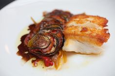 Pan-roasted halibut with ratatouille with Damon Stainbrook