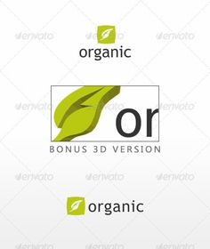 Organic - Logo Design Template Vector #logotype Download it here: http://graphicriver.net/item/organic/1805983?s_rank=1173?ref=nesto