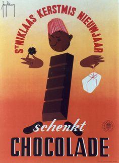 Vintage chocolate poster