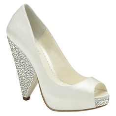 Benjamin Adams Bridal Shoes | Couture Wedding Shoes. Ivory, Crystal