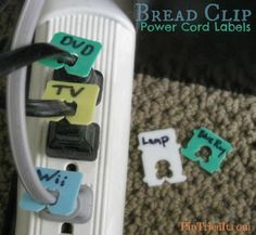 Great idea to reuse bread bag tags - also on computer wires and to tag different power/ recharge cords.