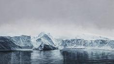 Zaria Forman | Deception Island, Antarctica (soft pastel on paper)