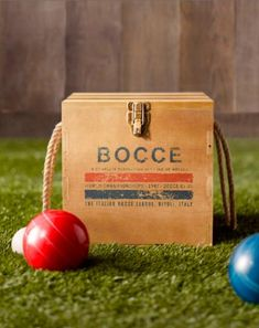 Bocce ball, corn hole, football, frisbee- Have available for people to play at rehearsal dinner? I LOVE outdoor games
