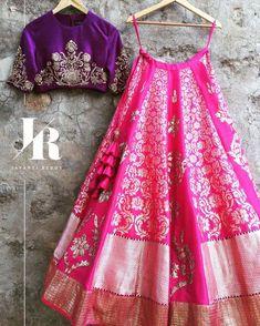 Crushing on this Pink and Purple Lehenga Set from the Benares Capsule! JayantiReddyLabel JayantiReddy Benares 22 December 2016