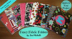 Fancy Fabric Folders - FREE Design and Project.